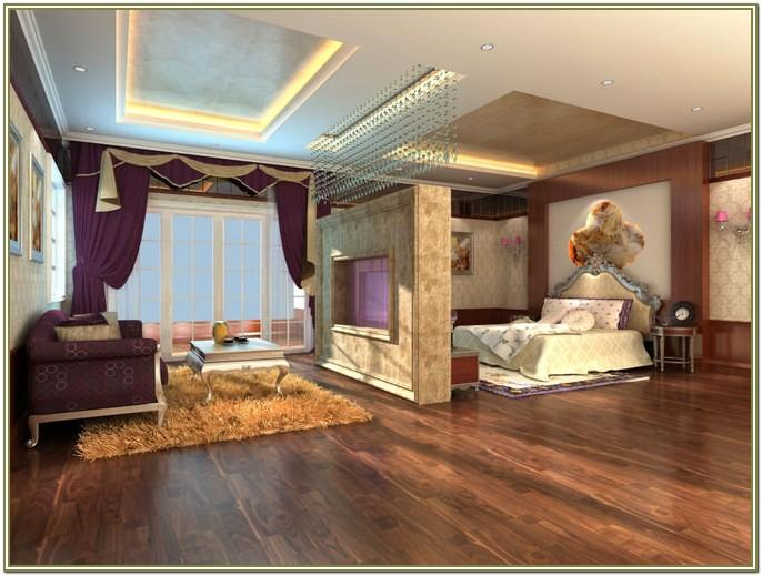 Interior Decoration Bed In Living Room
