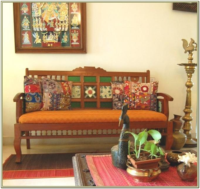 Interior Decoration Divan In Indian Living Room