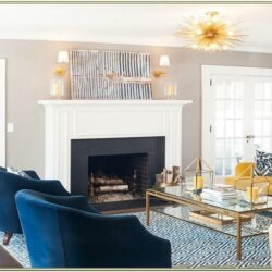 Interior Decoration Living Room Navy And Gold