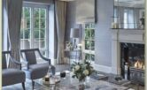 Interior Decoration Living Room With Curtains