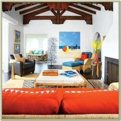 Is Orange Decor Good For Living Room