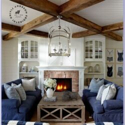 Lake Home Living Room Decorating