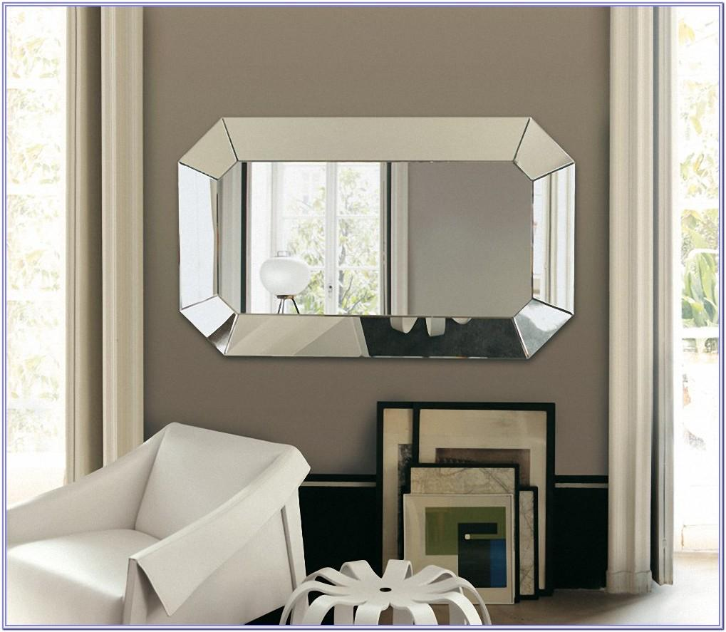 Large Decorative Black Living Room Mirror