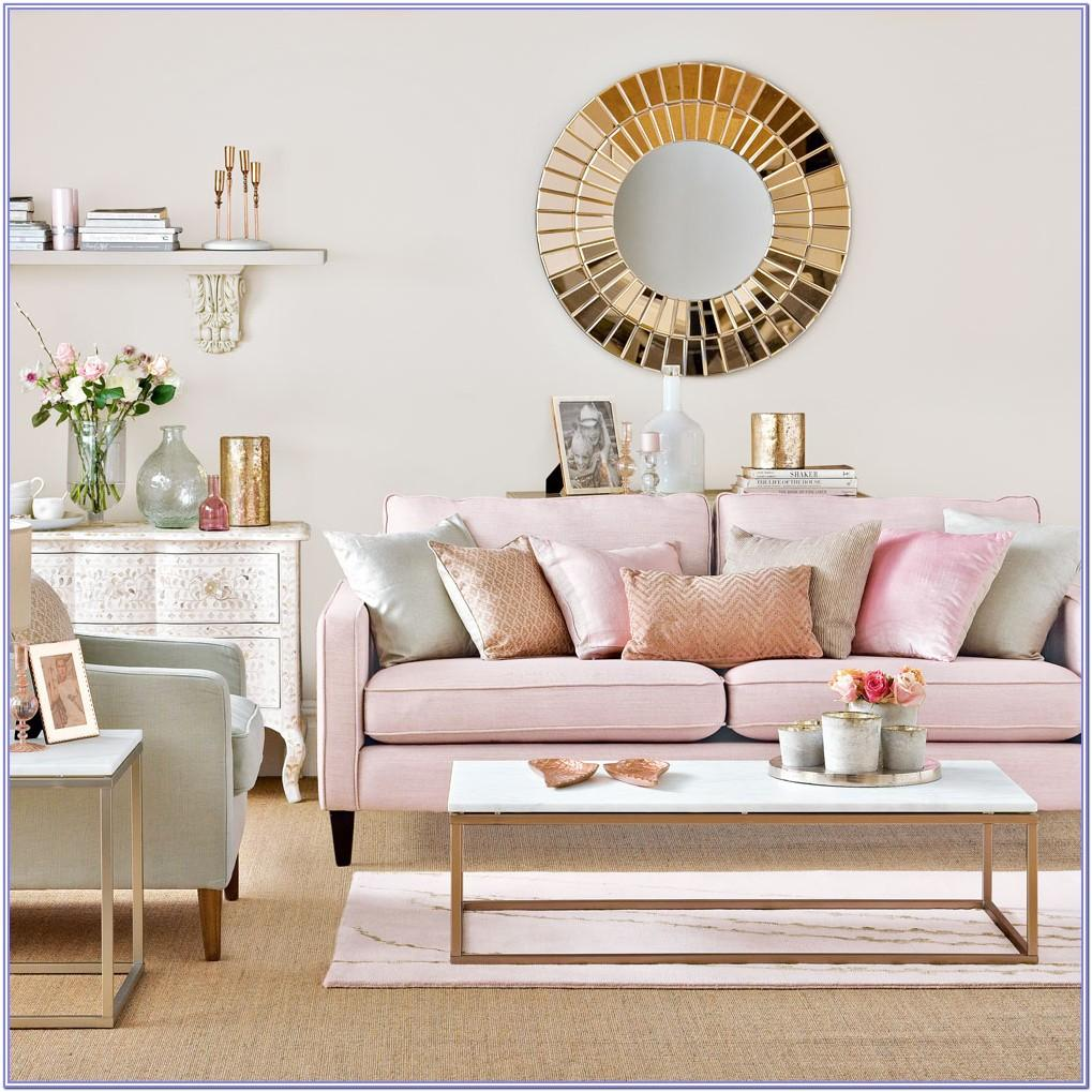 Light Blue Pink Fuchsia Living Room Decor