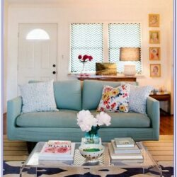 Light Blue Sofa Living Room Decor