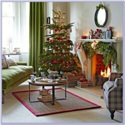 Light Green Tree Decor Living Room