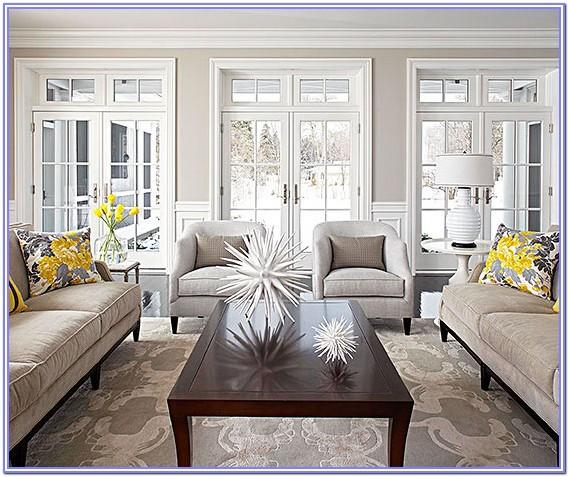 Light Yellow And Gray Living Room Decor