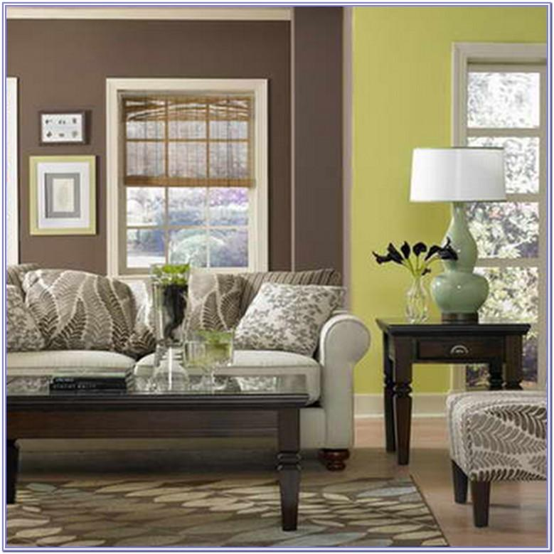 lime green and brown living room decor