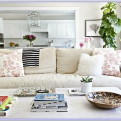 Linen Sectional Living Room Decor
