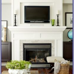 Living Room Above Fireplace Decorating Ideas