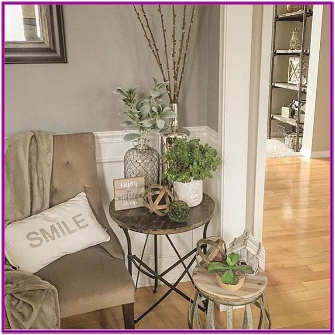 Living Room Accent Table Decor Ideas
