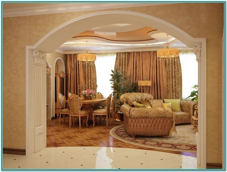 Living Room Arch Decoration Ideas