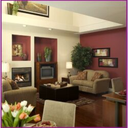 Living Room Art Decor Burgundy