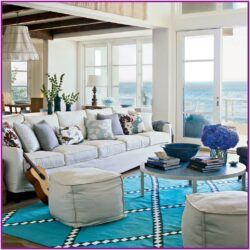 Living Room Beach Vacation Decor
