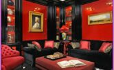 Living Room Black And Red Decoration