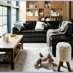 Living Room Black Leather Sofa Decorating Ideas