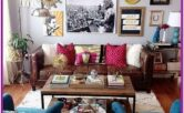 Living Room Boho Wall Decor Ideas