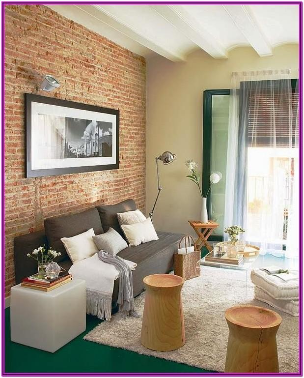 Living Room Brick Wall Decor Ideas