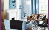 Living Room Brown And Blue Decorating Ideas