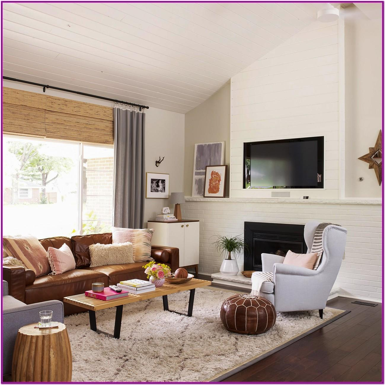 Living Room Brown Couch Decor Ideas