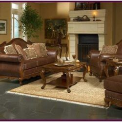 Living Room Brown Leather Furniture Decorating Ideas