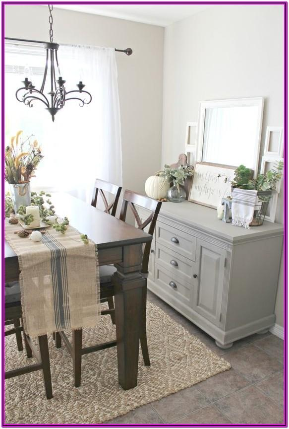 Living Room Buffet Table Decor