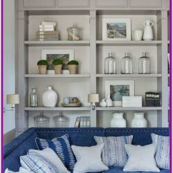 Living Room Built In Bookshelf Decorating Ideas