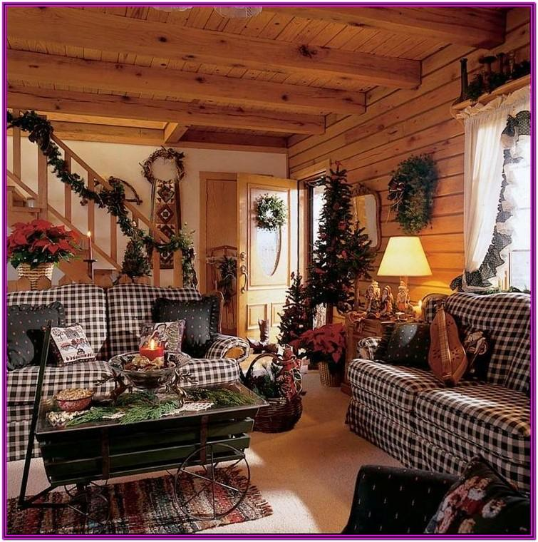 Living Room Christmas Decorations Cabin Rustic