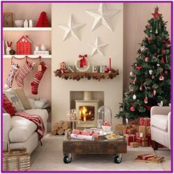 Living Room Christmas Decorations Indoor Pinterest