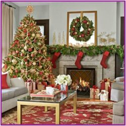 Living Room Christmas Decorations Pinterest