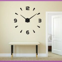 Living Room Clock Decor