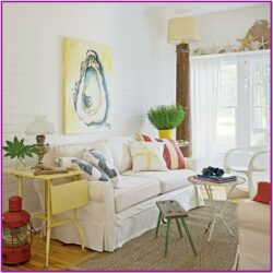 Living Room Coastal Cottage Decor