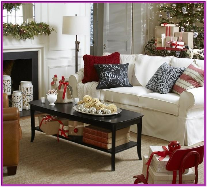 Living Room Coffee Table Christmas Decor Ideas