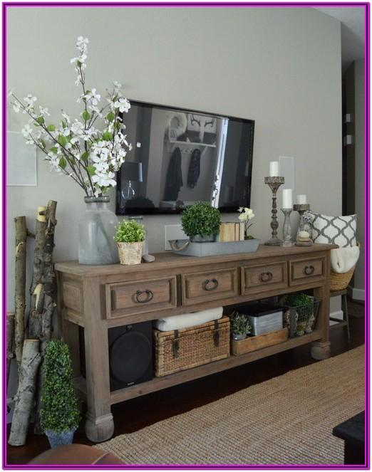 Living Room Console Decor Ideas