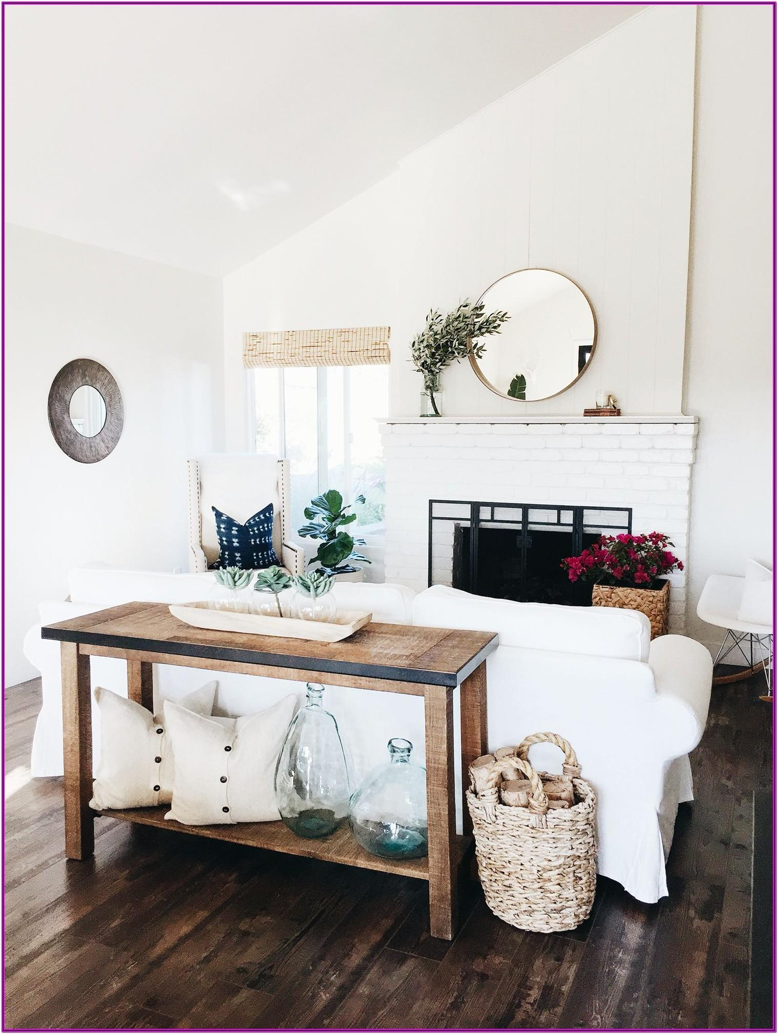 Living Room Console Table Decor
