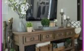 Living Room Console Table Decoration Ideas
