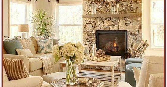 Living Room Country Decor Meets Modern