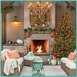 Living Room Cozy Christmas Christmas Decor Ideas