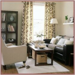 Living Room Dark Furniture Decorating Ideas