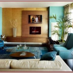 Living Room Decor Aqua Blur