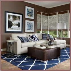 Living Room Decor Babyblue Brown
