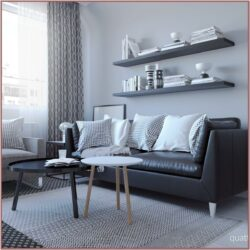 Living Room Decor Black Sofa