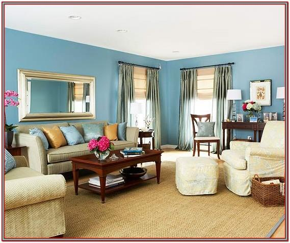Living Room Decor Blue Walls
