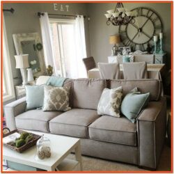 Living Room Decor Grey Couch