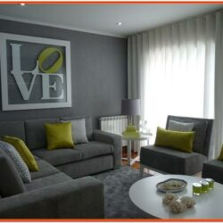 Living Room Decor Grey Walls