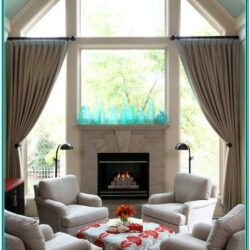 Living Room Decor Ideas Bay Window Fireplace