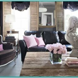 Living Room Decor Ideas Black Leather Sofa