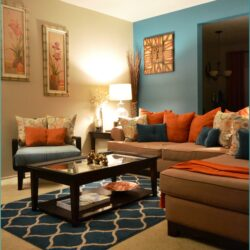 Living Room Decor Ideas Blue And Orange Scaled