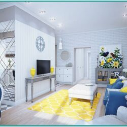Living Room Decor Ideas Blues And Yellows