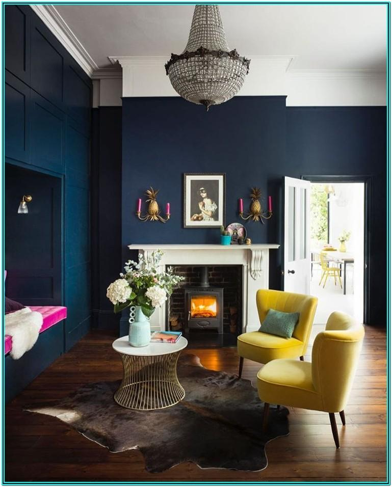 Living Room Decor Ideas In Navy Blue